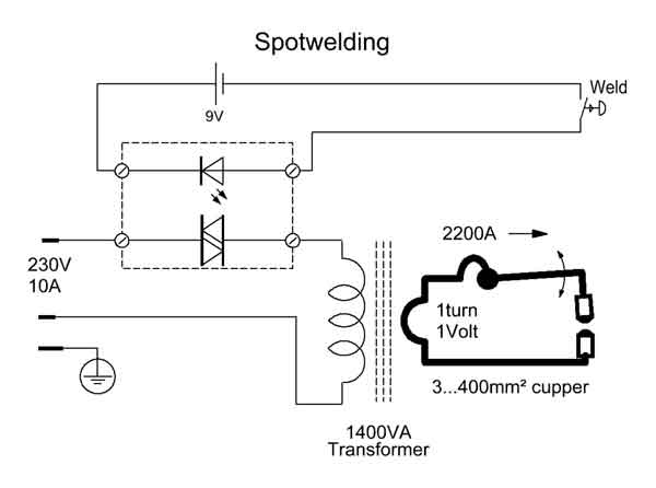 spotwelding home made, wiring diagram